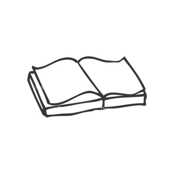 School Doodle Vector Set 1 Vector Book 43 Clip Art - SVG & PNG vector