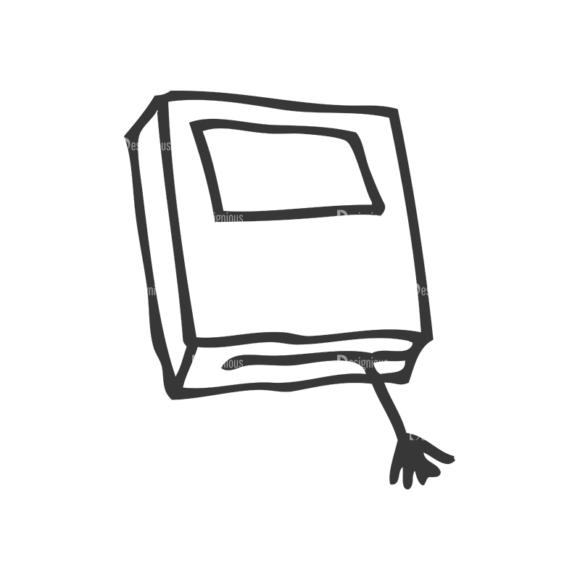 School Doodle Vector Set 1 Vector Book 52 Clip Art - SVG & PNG vector