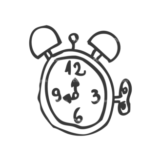 School Doodle Vector Set 1 Vector Clock Clip Art - SVG & PNG vector