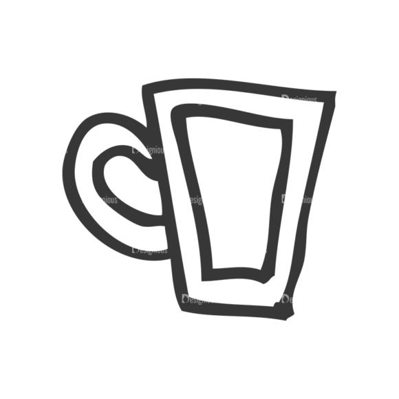 School Doodle Vector Set 1 Vector Mug Clip Art - SVG & PNG vector