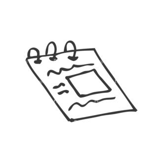 School Doodle Vector Set 1 Vector Paper 33 Clip Art - SVG & PNG vector