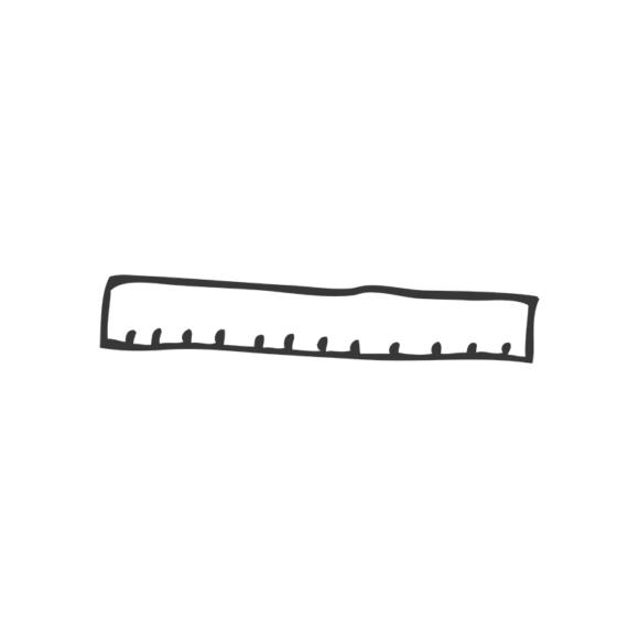 School Doodle Vector Set 1 Vector Ruler Clip Art - SVG & PNG vector