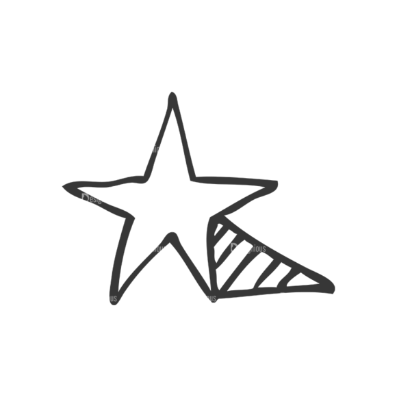 School Doodle Vector Set 1 Vector Star 32 Clip Art - SVG & PNG star
