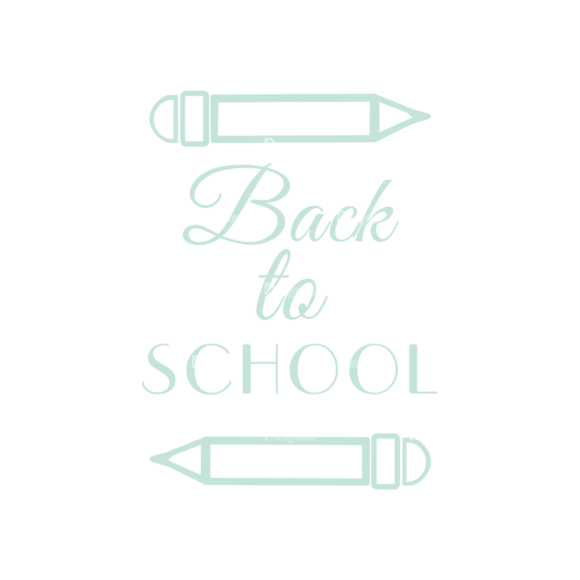 School Elements Vector Back To School 02 Clip Art - SVG & PNG vector