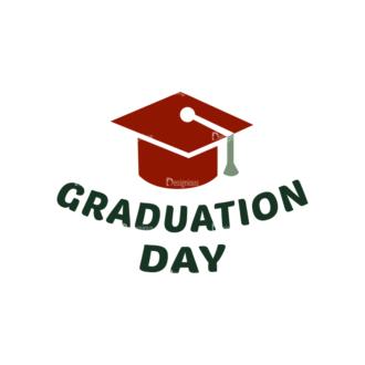 School Elements Vector Graduation Day Clip Art - SVG & PNG vector
