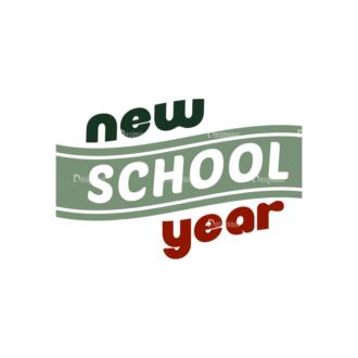 School Elements Vector New School Year 06 Clip Art - SVG & PNG vector