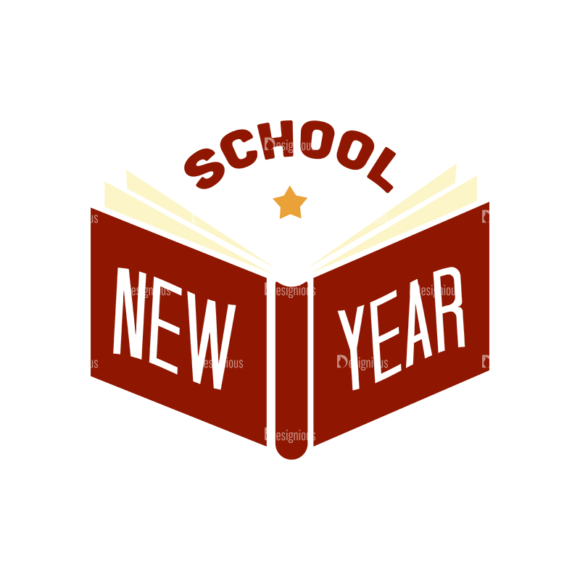School Elements Vector School New Year Clip Art - SVG & PNG vector