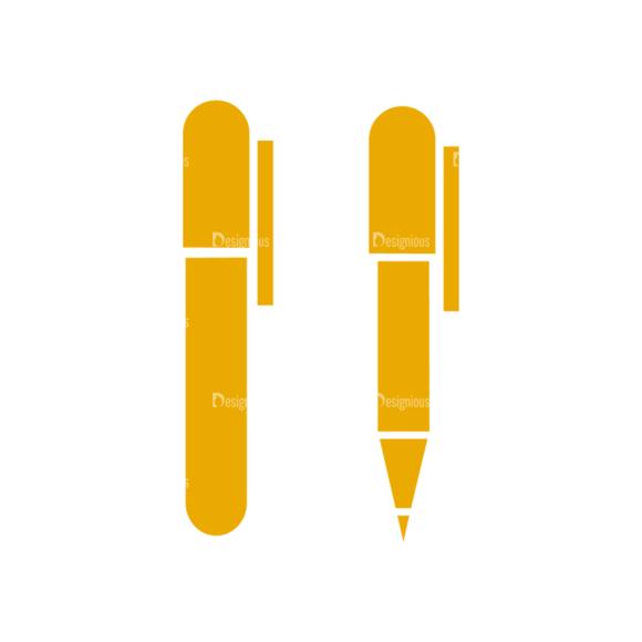 School Infographic Vector Pen Clip Art - SVG & PNG vector