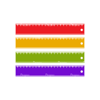 School Infographic Vector Ruler Clip Art - SVG & PNG vector