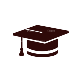 School Vector Elements Set 1 Vector Graduation Cap Clip Art - SVG & PNG vector