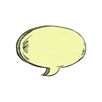 Scribbled Speech Bubbles Vector Speech Bubble 01 Clip Art - SVG & PNG vector