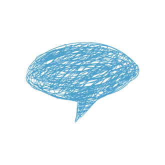 Scribbled Speech Bubbles Vector Speech Bubble 03 Clip Art - SVG & PNG vector