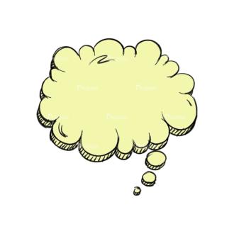 Scribbled Speech Bubbles Vector Speech Bubble 05 Clip Art - SVG & PNG vector