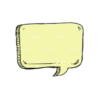 Scribbled Speech Bubbles Vector Speech Bubble 06 Clip Art - SVG & PNG vector