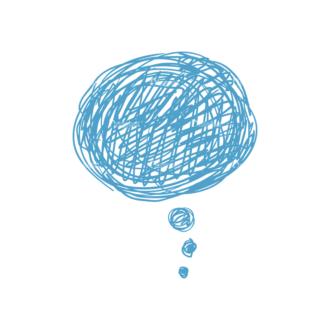 Scribbled Speech Bubbles Vector Speech Bubble 07 Clip Art - SVG & PNG vector
