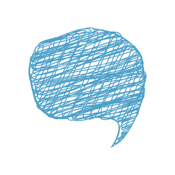 Scribbled Speech Bubbles Vector Speech Bubble 08 Clip Art - SVG & PNG vector