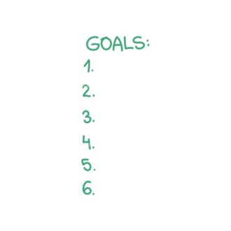 Set Goals Vector Set 1 Vector Goals List 02 Clip Art - SVG & PNG vector