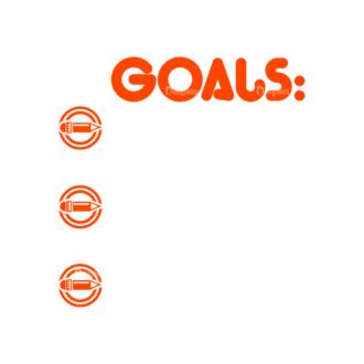 Set Goals Vector Set 1 Vector Goals List 04 Clip Art - SVG & PNG vector