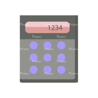 Shopping Flat Vector Set 1 Vector Calculator Clip Art - SVG & PNG vector