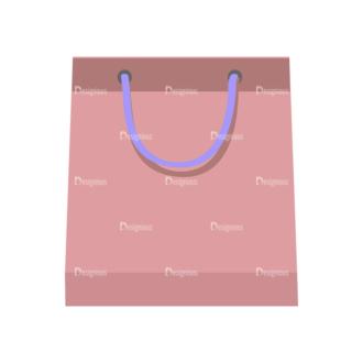 Shopping Flat Vector Set 1 Vector Paper Bag Clip Art - SVG & PNG vector