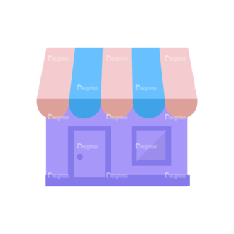 Shopping Flat Vector Set 1 Vector Store Clip Art - SVG & PNG vector