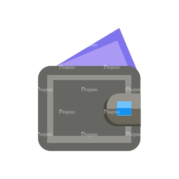 Shopping Flat Vector Set 1 Vector Wallet Clip Art - SVG & PNG vector