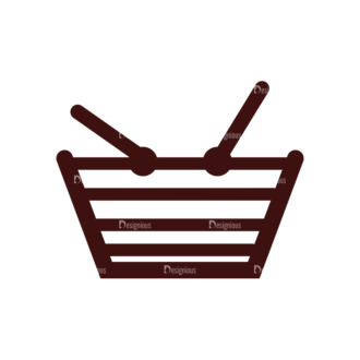 Shopping Vector Elements Set 1 Vector Basket Clip Art - SVG & PNG vector