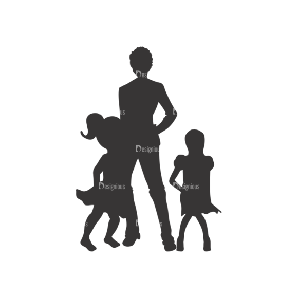 Silhouettes Pack 1 22 Preview Clip Art - SVG & PNG vector