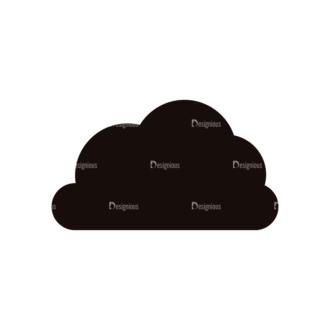 Simple Flat Cloud Set 1 Vector Cloud 02 Clip Art - SVG & PNG vector