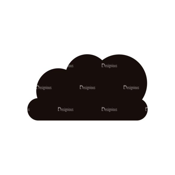 Simple Flat Cloud Set 1 Vector Cloud 03 Clip Art - SVG & PNG vector