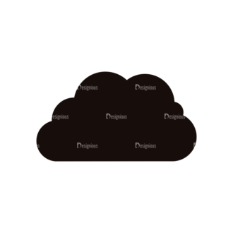 Simple Flat Cloud Set 1 Vector Cloud 07 Clip Art - SVG & PNG vector