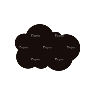 Simple Flat Cloud Set 1 Vector Cloud 08 Clip Art - SVG & PNG vector