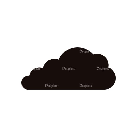 Simple Flat Cloud Set 1 Vector Cloud 10 Clip Art - SVG & PNG vector