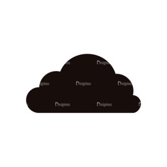 Simple Flat Cloud Set 1 Vector Cloud 11 Clip Art - SVG & PNG vector