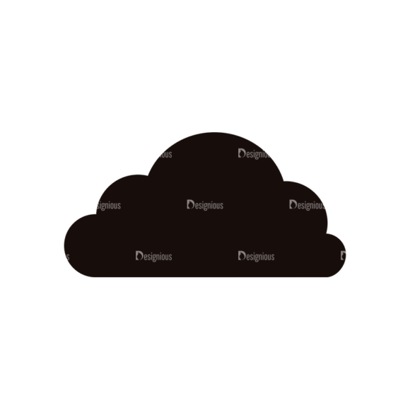 Simple Flat Cloud Set 1 Vector Cloud 11 simple flat cloud set 1 vector cloud 11