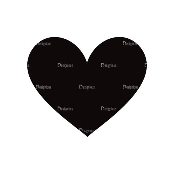 Simple Flat Symbols Set 1 Vector Heart Clip Art - SVG & PNG vector