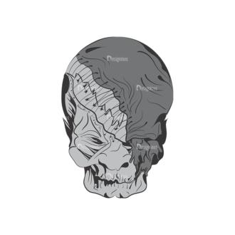 Skull Vector Clipart 1-10 Clip Art - SVG & PNG vector