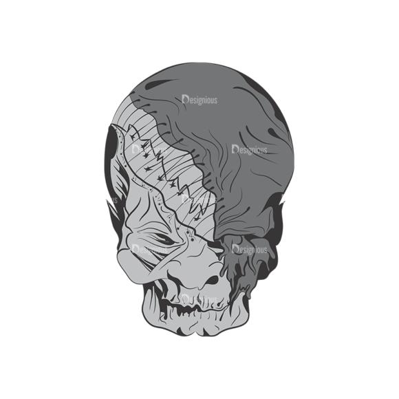 Skull Vector Clipart 1-10 skulls pack 1 10 preview