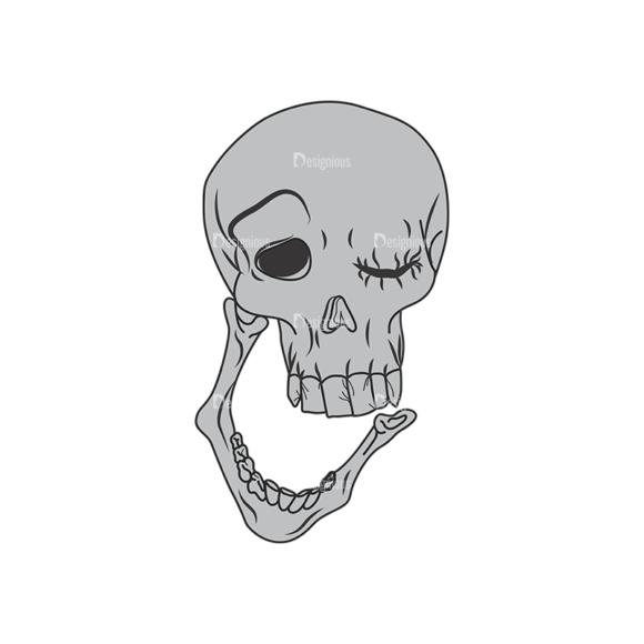 Skull Vector Clipart 1-14 Clip Art - SVG & PNG vector