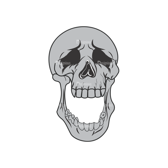 Skull Vector Clipart 1-15 skulls pack 1 15 preview