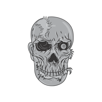 Skull Vector Clipart 1-2 Clip Art - SVG & PNG vector