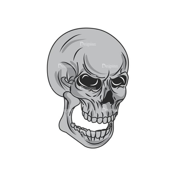 Skull Vector Clipart 1-3 Clip Art - SVG & PNG vector