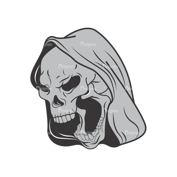 Skull Vector Clipart 1-5 skulls pack 1 5 preview