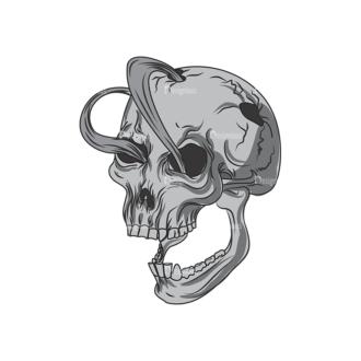 Skull Vector Clipart 1-6 Clip Art - SVG & PNG vector