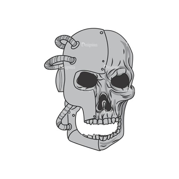 Skull Vector Clipart 1-7 skulls pack 1 7 preview