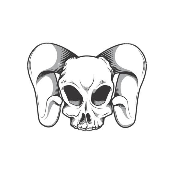Skull Vector Clipart 10-8 skulls pack 10 8 preview