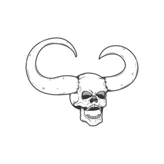 Skull Vector Clipart 11-4 Clip Art - SVG & PNG vector