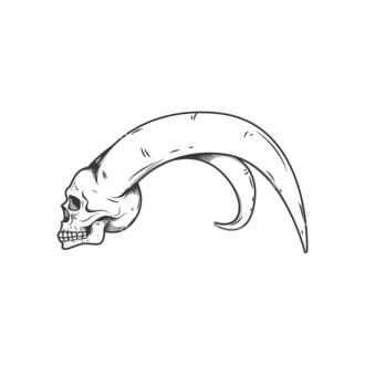 Skull Vector Clipart 11-6 Clip Art - SVG & PNG vector