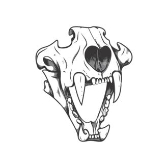 Skull Vector Clipart 12-5 Clip Art - SVG & PNG vector