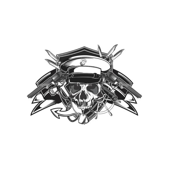 Skull Vector Clipart 14-1 Clip Art - SVG & PNG vector